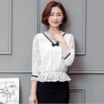 Swt037 дизайн женщин Vintage Top вязание крючком блузка Buy топ