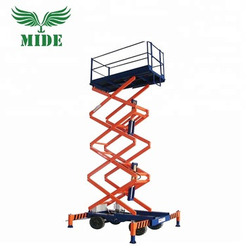12m Mobile Electric Hydraulic Scissor Man Lift Platform For Aerial Work -  Buy Glass Cleaning Lift Equipment,China Lift Platform,Scissor Lift Stage