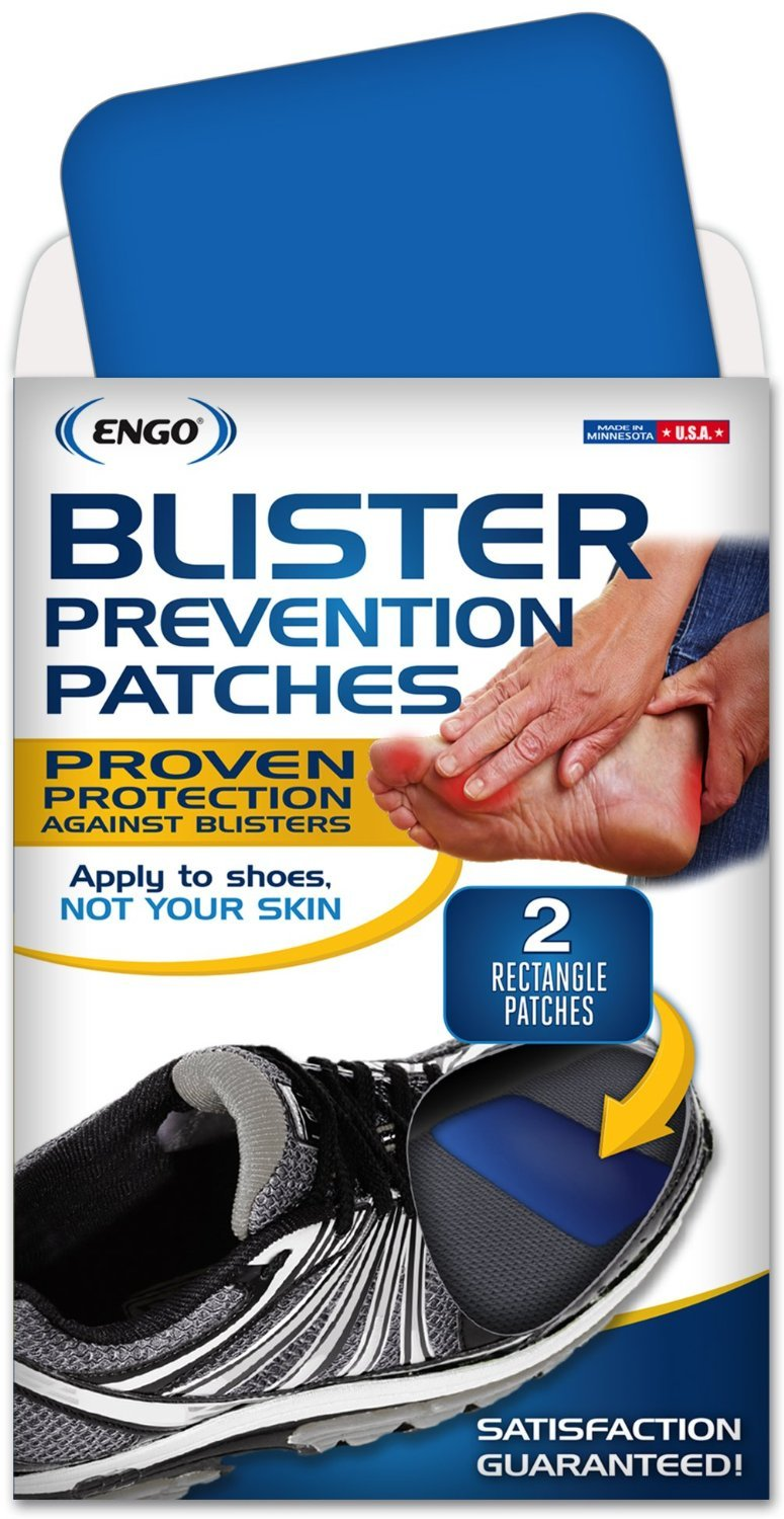 ENGO Rectangle Blister Prevention Patches (2 Patches) | Trim to Fit Boots, Skates, Cleats, Helmets, Equipment, Other Footwear