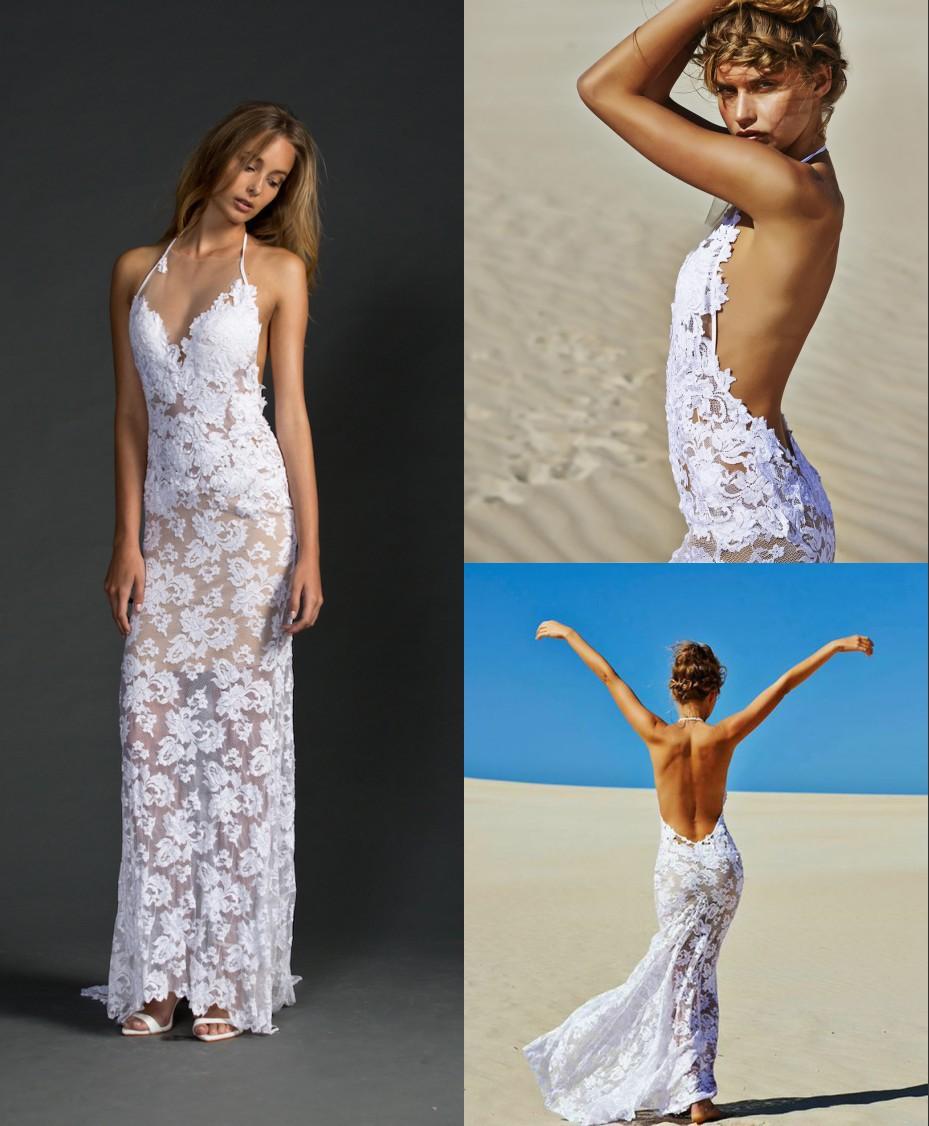 Simple Halter Wedding Dress Promotion-Shop For Promotional