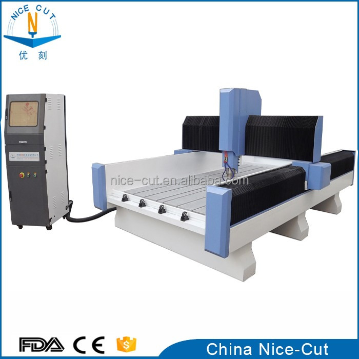 NC-1325 stone router CNC engraving machine with rotary attachment