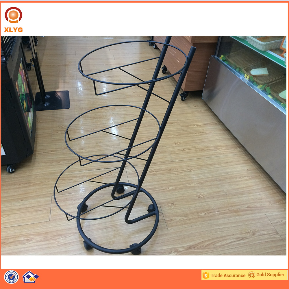 Factory supplier durable easy to install display 3 tier fruit and veg display shelf
