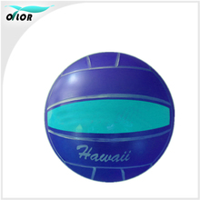 Child and kids playing pvc inflatable toy skip volleyball