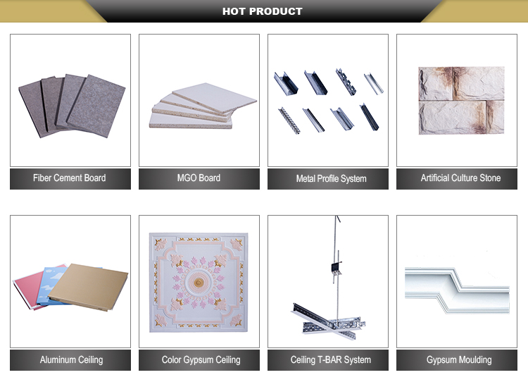 Vinyl Coated Gypsum Ceiling Tiles Board Accessories