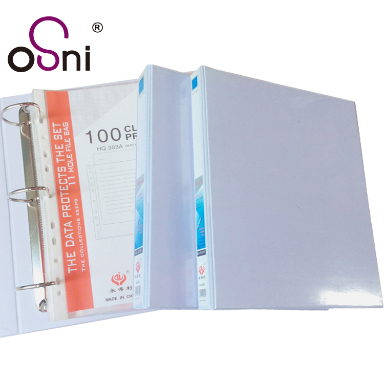 Factory manufacturer A4 size D ring pvc 3 ring metal ring binder