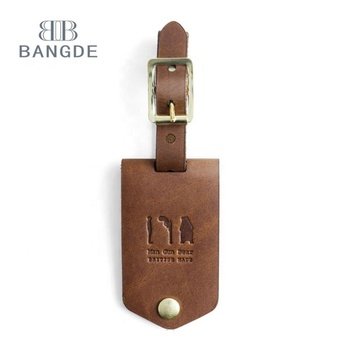 Custom Real Leather small Luggage Tag