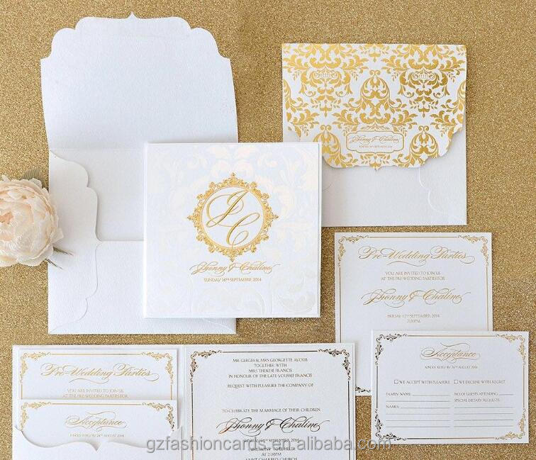 Gold Foil Luxury Hardcover Wedding Invitations