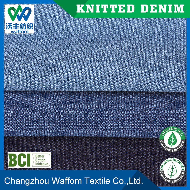 cheap cotton spandex pique jersey knit denim fabric for mens shirt