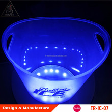 OEM Glowing lighting furniture rechargeable led ice bucket
