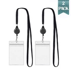 Fashion Style flashing id card holder with lanyard