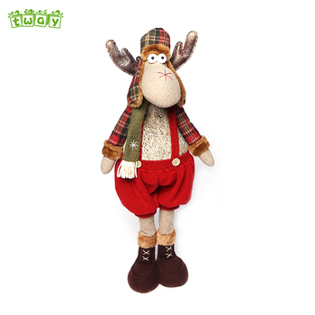 christmas decorations xmas gifts long legged standing moose reindeer - Christmas Moose Decorations