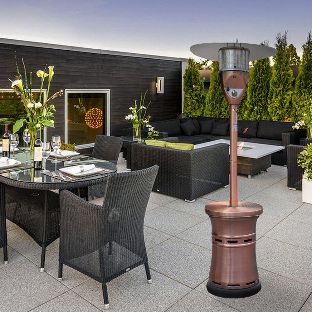 Get Quotations · Lava Heat Italia Alto Propane Patio Heater 48,000 BTU  Outdoor Propane Heater With Adjustable Table Propane