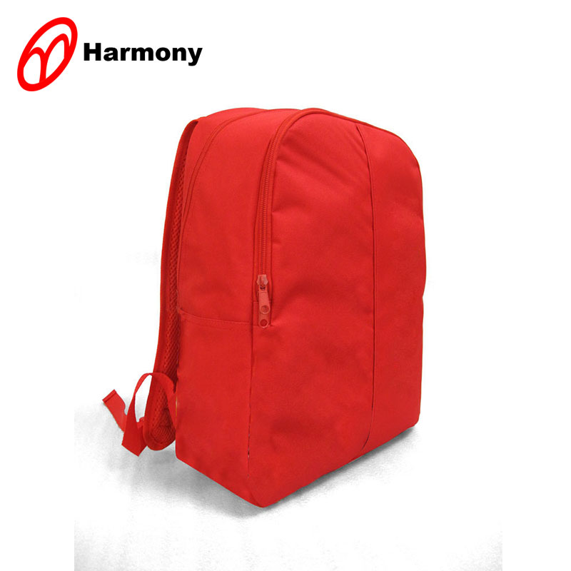 Simple and convenient red 600D fantasy backpack