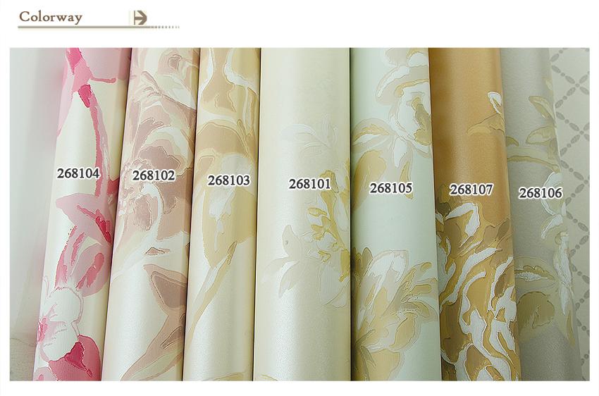 Pastel bloemen moderne stijl non woven behang voor slaapkamer buy