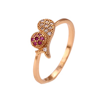 12290 Xuping newest style crystal 18k gold color girls rings