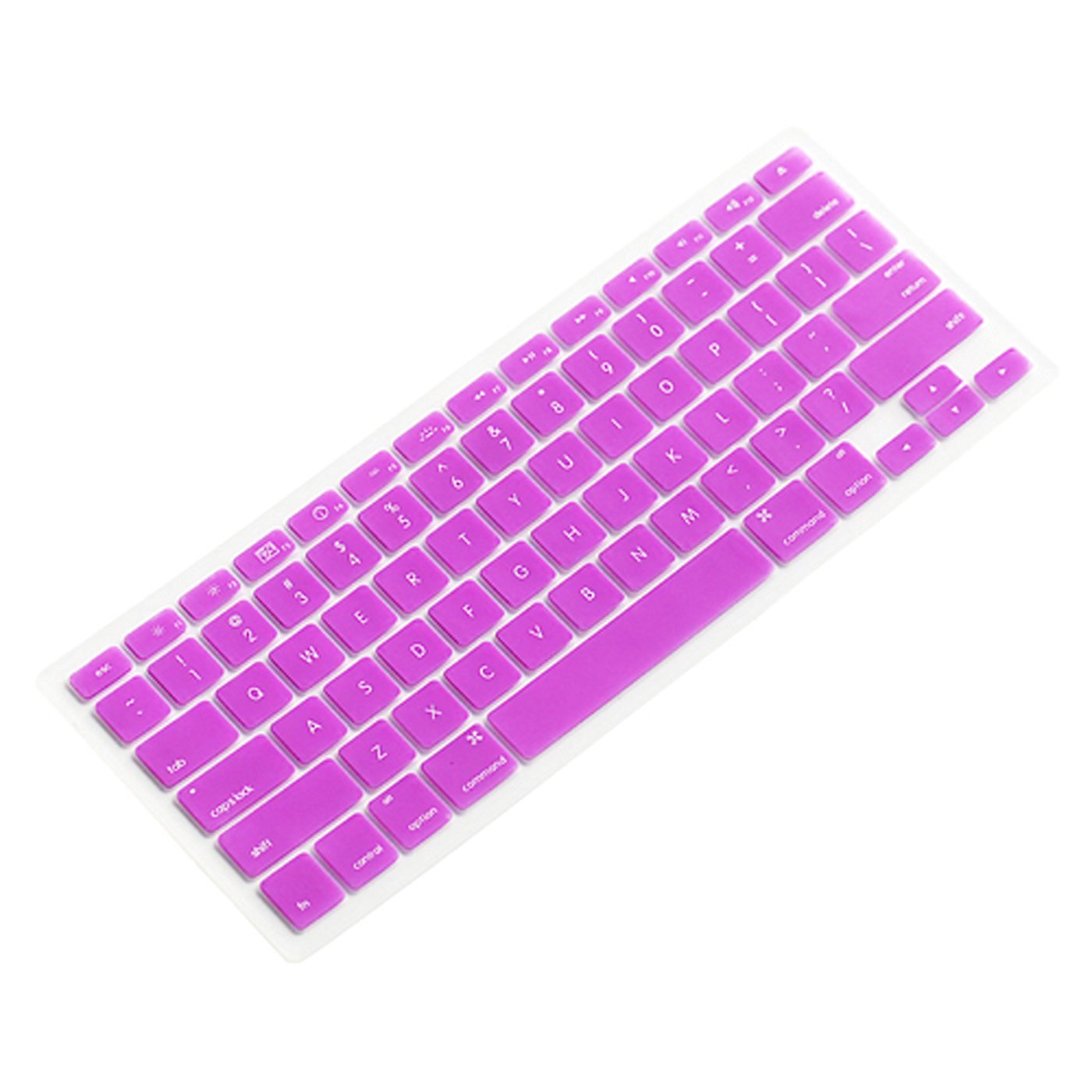 """KEEPING Silicone Keyboard Cover for Macbook Pro 13"""" 15"""" 17"""" (with or without Retina Display)/ Unibody / Wireless Keyboard (Purple)"""