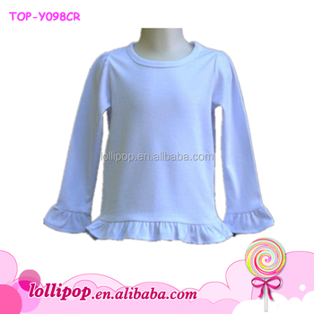 d603bcd24 Baby Girls Top Design Baby Cotton Skirt Top Ruffle Icing Long Sleeve Girl  Tube Top Wholesale