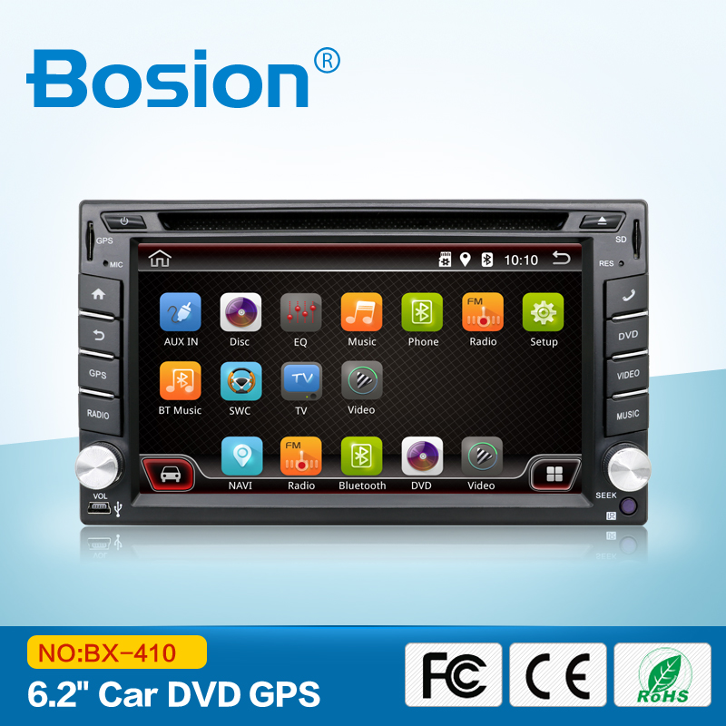 6.2 inch Andriod double din universal in dash car stereo usb mp4 player with gps navigation