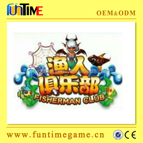 Fisherman Club arcade fishing game machine fish hunter arcade game board / fish hunter game kit