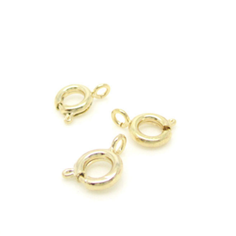 coolwin 24k gold filled  round clasp for jewerly finding and necklace