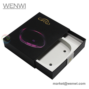 Beauty Product Custom Black Cardboard Slide Out Box Packaging