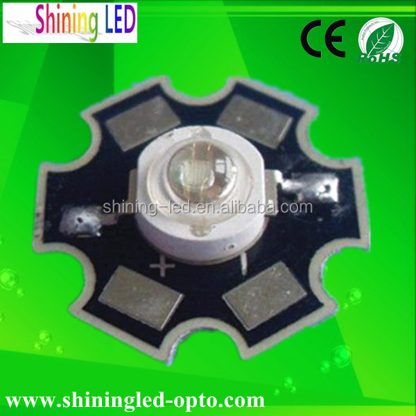 High Quality Ultraviolet Diode 1W High Power 365nm 370nm UV LED with Star PCB heatsink