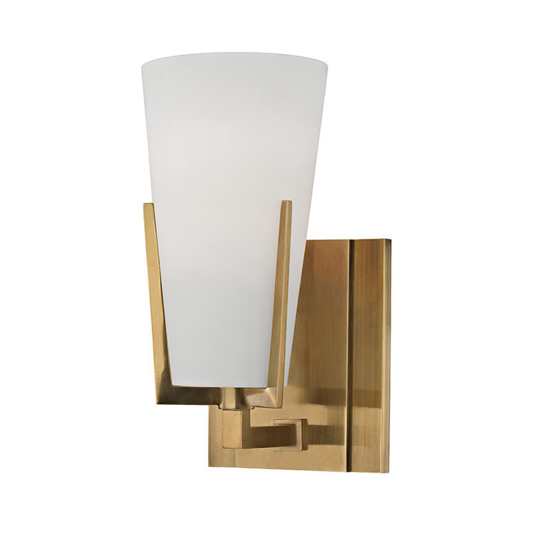 India Wholesale Price Curtain Opal Glass Shade Cover Small Led Flexible Wall Light For Corridor
