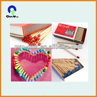 customized box sizes colorful head hotel safety matches