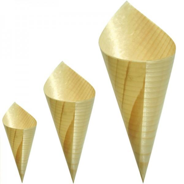 Jetable vaisselle couverts de bouleau 80mm bois c u00f4ne pour le dessert Artisanat en bois ID de  # Vaisselle Jetable En Bois