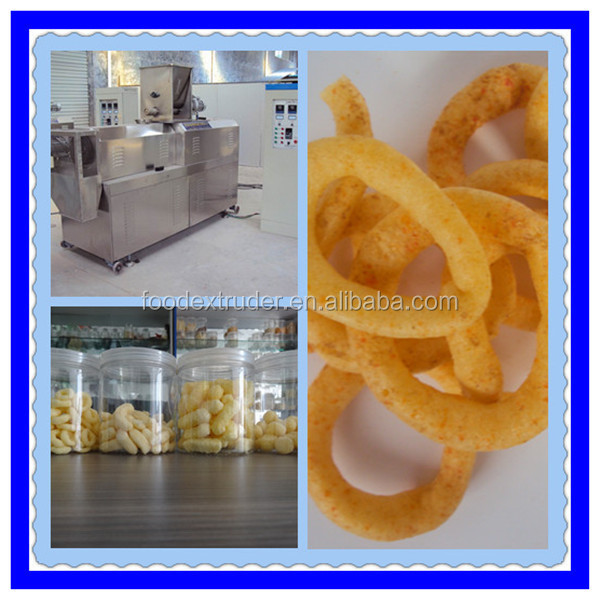 factory manufactory flour bugles auto Ce certificate China fry snack food process machine