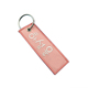 Promotion Gifts Fabric Embroidery Custom Woven Keychain Tag