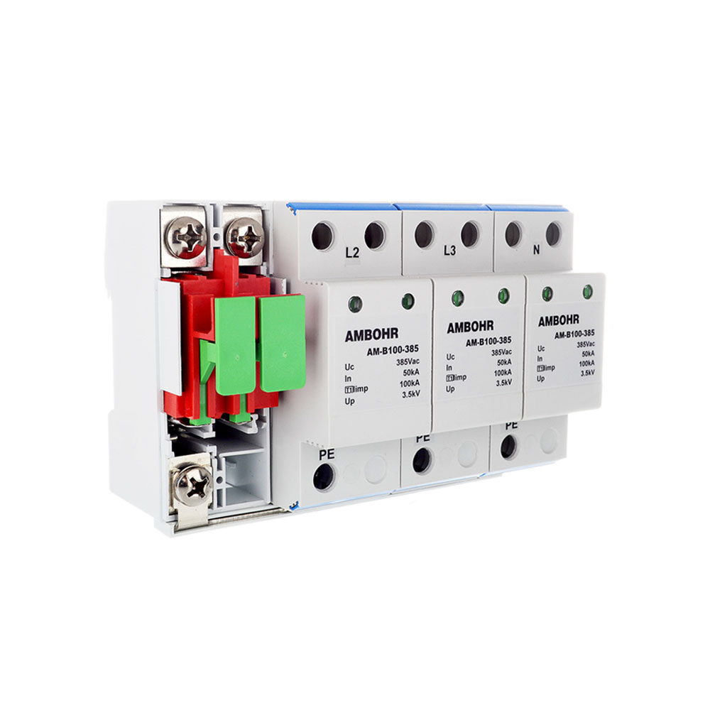 AMBOHR 100KA 4P 385Vac Type <strong>1</strong> / class I/Class B High power Surge protector