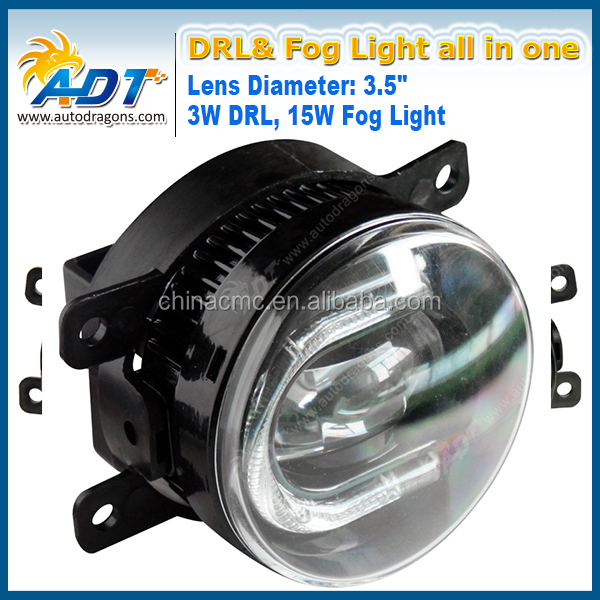 Car Styling 3W 6000K White 600 LM High Power LED Fog Lamps For universal vehicle