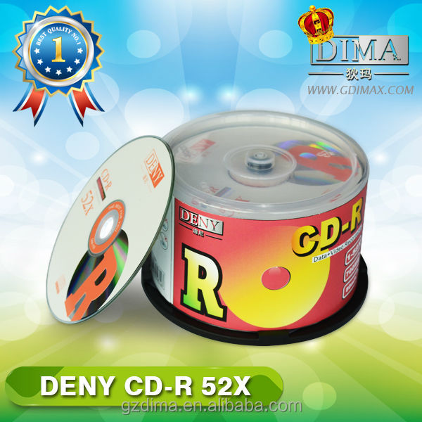 DENY cdr 50pcs shrink packing, cd products