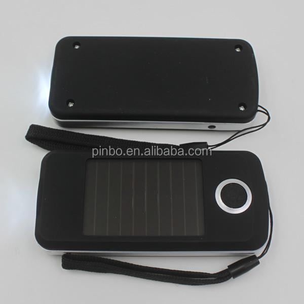 Rectangle 3 LED Solaire lampe de Poche avec Chargeur USB, en ...