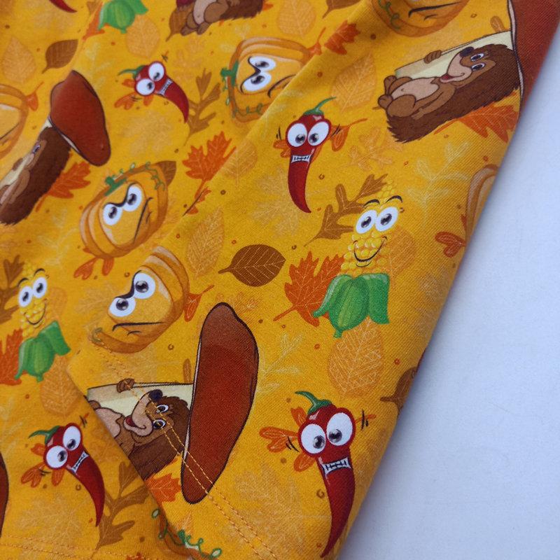 Stampa personalizzata 220gsm Cotone Spandex Jersey Tessuto, Cotone Lavorato A Maglia Tessuto Con Il Commercio All'ingrosso Nessun MOQ
