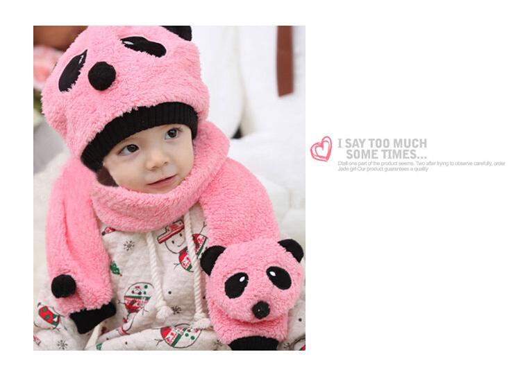 29587dd0178 Get Quotations · 2015 Hot Sale Fashion New Winter Panda Children Scarf Hat  Set Baby Boys Girls Fleece kids