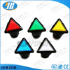 Plastic Arcade Game Triangle Red yellow blue green white color electrical push button