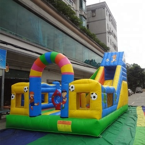 Hot sale inflatable slide amusement park inflatable fun city for kids