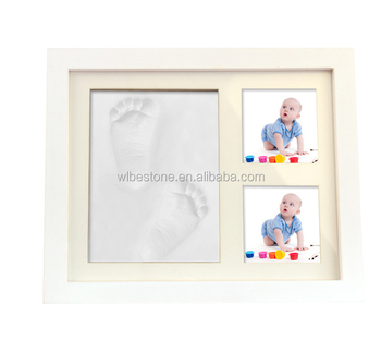 Beautiful Baby Photo Frame Baby Shower Footprints And Handprint Kit