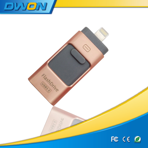 OEM Logo printed usb flash drive 64gb for apple iphone 6/plus usb memory stick