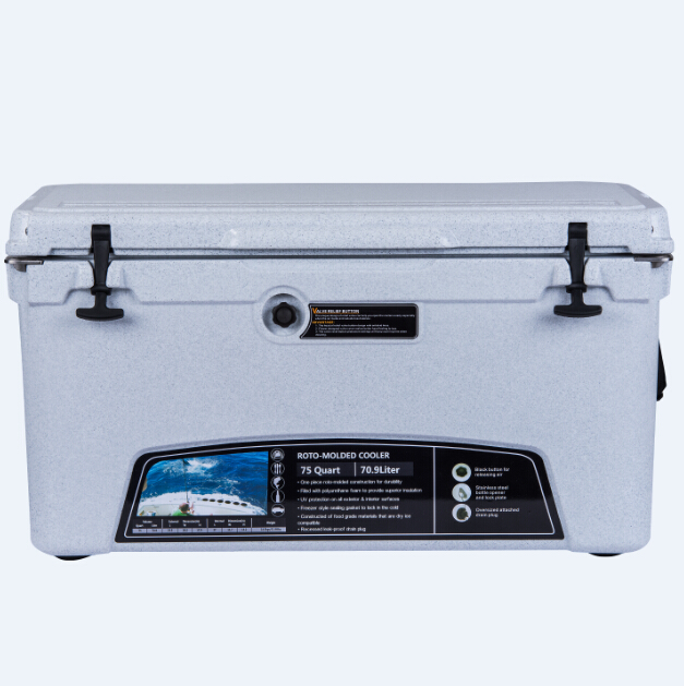 Factory cheap 45L high quality camping ice cooler box rotomolded insulation ice chest with lock