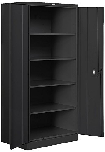 Salsbury Industries Standard Heavy Duty Storage Cabinet, 78-Inch by 18-Inch, Black