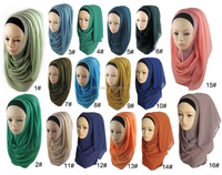 Wholesale Fashion Muslim Women Plain Chiffon Hijab Scarf