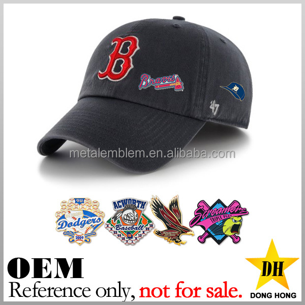 Manufacturer cheap sport team logo custom metal baseball hat pins