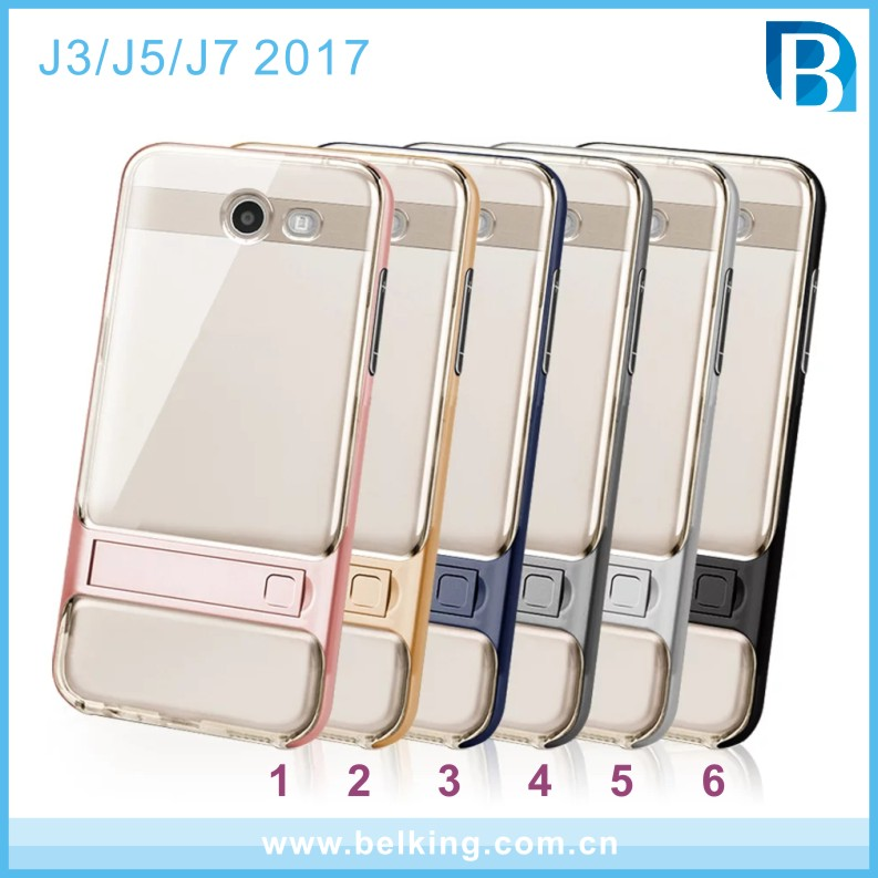 High Clear Hybrid Plastic TPU PC Cellphone Crystal Case For Samsung Galaxy J3 J5 J7 2017
