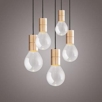 Ideas Transpa Bulb Shaped Gl Pendant Lamp Hanging Retro Vintage Light For Drawing Room