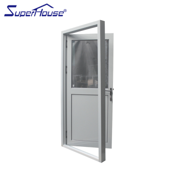 Superbe Modern Aluminum Front Entry Door Glass Aluminum Half Glass Door Design