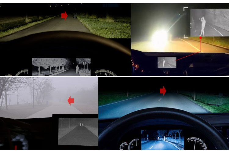 IP67 Driving Searching Front View Night Vision Spy Infrared Imaging Thermal Car Camera