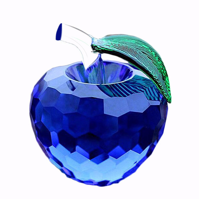 wholesale colourful K9 crystal apple for Christmas gifts and wedding thankful presents
